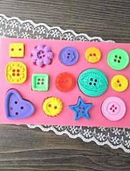 Недорогие -кнопка выпекать помада торт плесень, l11.7cm * w7.4cm * h0.8cm форма для торта, инструмент для выпечки