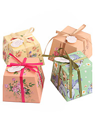 Creative Card Paper Favor Holder With Laces Favor Boxes-12 Wedding Favors