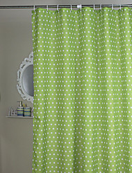Minimalista Shower Curtain verde Polka Dots