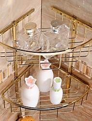 cheap -Gold-plating Brass Material Bathroom Shower Baskets