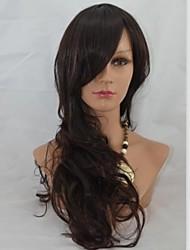 24inch lungo senza cappuccio di alta qualità sintetico morbida onda parrucca di capelli Mix 2/33
