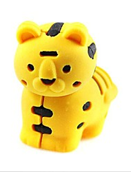Cute DetachableLittle Tiger Shaped Eraser (Random Color x 2 PCS)