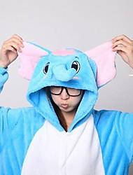 billige -Kigurumi Pyjamas Elefant Kostume Koralfleece Kigurumi Trikot / Heldragtskostumer Cosplay Festival / Højtider Nattøj Med Dyr Halloween