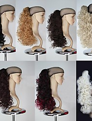 cheap -18 inch Hair Extension Curly Classic Daily High Quality Ponytails