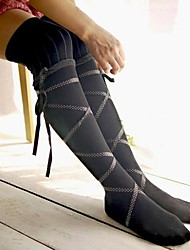 Socks/Stockings Classic/Traditional Lolita Lace-up Lolita Accessories Stockings Print For Cotton