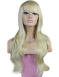 billige -Syntetiske parykker Blond Med bangs / pandehår Syntetisk hår Blond Paryk Dame