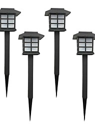 cheap -4PCS Color Changing Solar Lawn Lamp Garden Stake Light
