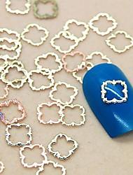 billige -Smuk Negle kunst Manicure Pedicure Metal Blomst / Abstrakt / Klassisk Daglig / Tegneserie / Lace Sticker / Negle smykker