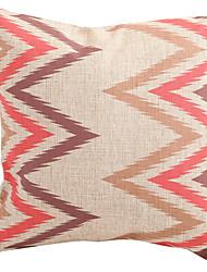 billige -Moderne Gemetric Wave bomuld / hør Dekorative Pillow Cover
