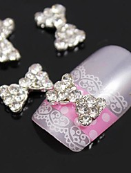 abordables -10pcs bling diamant papillon métal 3d alliage art de la décoration des ongles