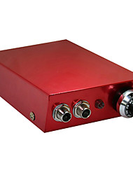 abordables -Aluminium Alloy Fine Tuning Tattoo Power Supply Red