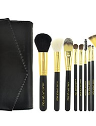 Make-up For You® 10pcs Makeup Brushes set Goat/Wool/Pony/Horse Hair  Limits bacteria/Professional Black Shadow/Blush/Lip/Powder Brush