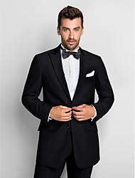Недорогие -Смокинг облегающего кроя из 100% шерсти черного цвета (пиджак и брюки)
