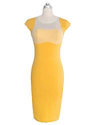 billige -mode monteret lutter kort ærme kappe kjole