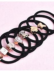 (3pc) aléatoires bandes élastiques noires élevés élastiques cheveux plus simples et pratiques