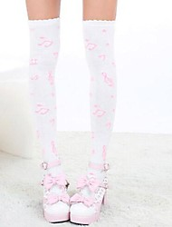 Socks/Stockings Sweet Lolita Lolita Princess Lolita Accessories Stockings Print For Nylon