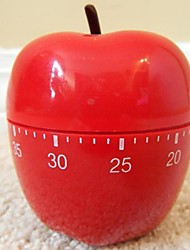 "Red Apple Shaped Mechanical Kitchen Timer , Plastic 2.4""X2.4""X4.12"""