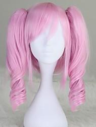 cheap -Cosplay Wigs Code Gease Anya Alstreim Pink Short Anime Cosplay Wigs 35 CM Heat Resistant Fiber Female