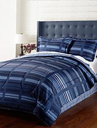 4 peças - azul marinho Modern Stripe Conjunto Consolador