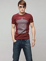 povoljno -Majica s rukavima Muškarci-Classic & Timeless Dnevno Jedna barva Print