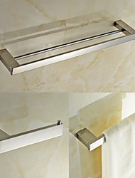 cheap -Bathroom Accessory Set High Quality Contemporary Stainless Steel 3pcs - Hotel bath tower bar Toilet Paper Holders