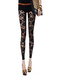 Women's  Transparent Lace Leggings
