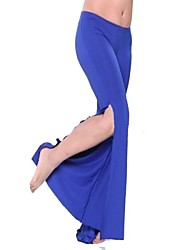 abordables -Danza del Vientre Pantalones y Faldas Mujer Licra Frontal Abierto Cintura Media