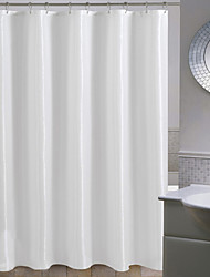 Minimalist White Solid Polka Dots Shower Curtain