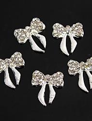economico -10pcs cristallo strass bowknot della lega 3d decorazione nail art