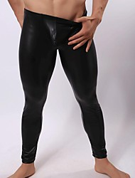 Men's Sexy  Leather Pants  Men  Trousers Ultra  Light  Smooth Tight Pants