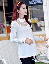 Maternity Round Collar Cotton Hubble Bubble Long Sleeve T-shirt
