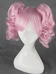 Parrucche Cosplay Puella Magi Madoka Magica Cosplay Rosa Medio Anime Parrucche Cosplay 45 CM Tessuno resistente a calore Donna