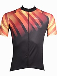ILPALADINO Cycling Jersey Men's Short Sleeves Bike Jersey Top Quick Dry Ultraviolet Resistant Breathable 100% Polyester Stripe Spring