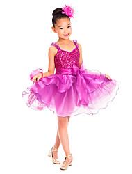 economico -Abbigliamento da ballo per bambini Vestiti Addestramento Elastene Lustrini / Con balze Senza maniche Naturale / Balletto / Esibizione / Sala da ballo