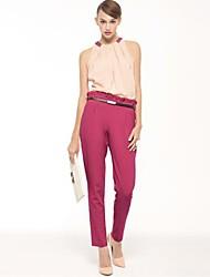 cheap -JOANNE KITTEN Women's Pink/Green/Beige Jumpsuits , Vintage/Casual/Work Sleeveless