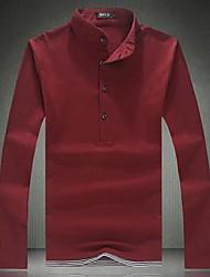 preiswerte -Herrn Solide Volltonfarbe-Klassisch & Zeitlos T-shirt Reine Farbe