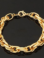 cheap -Women's Chain Bracelet Bangles Bracelet Vintage Bracelet Friendship Bracelet ID Bracelet Fashion Gold Plated Jewelry Wedding Party