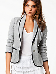 KissTies Fashion European Slim Long Sleeve Coat Jacket