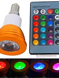 cheap -YWXLIGHT® 250-300 lm E14 LED Spotlight 1 leds High Power LED Remote-Controlled RGB AC 85-265V