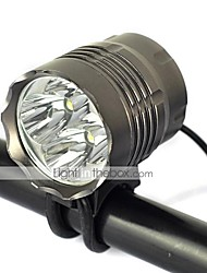 新款4T6 Luzes de Bicicleta 5000 lm Modo Cree XM-L T6 Resistente ao Impacto Recarregável Bisel de Golpe para Campismo / Escursão /
