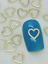 200PCS Unique Design Heart Lace Golden Metal Slice Nail Art Decoration