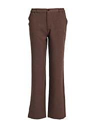 Women's Light Brown Zipper Trouser