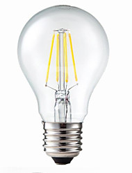 E26/E27 LED Filament Bulbs G60 4 COB 400 lm Warm White 3200 K Dimmable Decorative AC 220-240 V