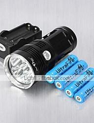 economico -Torce LED Modo 6000 Lumens Ricaricabile / Resistente agli urti /  Strike Bezel Cree XM-L T6 18650Campeggio/Escursionismo/Speleologia /