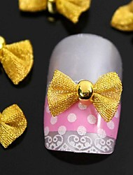 cheap -10pcs  Gold Bow Tie For Finger Tips  Accessories Nail Art Decoration