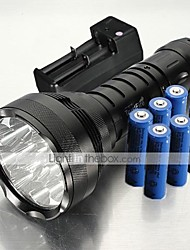 cheap -Trustfire 5 LED Flashlights / Torch Handheld Flashlights/Torch LED 12000 lm 5 Mode XM-L2 T6 Impact Resistant Waterproof Rechargeable 6x18650