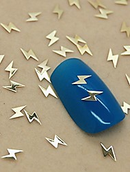 200pcs kølig lignting form gyldne metal skive nail art dekoration