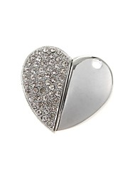 ZP 8GB USB disk Diamond Heart Pattern Metal Style USB Flash Drive