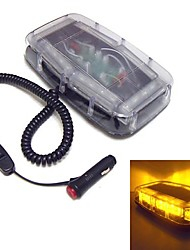Flashing 24 LEDs Mini Lightbar Waterproof Magnet Emergency Lights (Optional Colors)