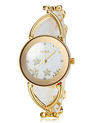 cheap -Women's Wrist Watch Japanese Alloy Band Flower / Fashion / Elegant White / Gold / One Year / SSUO SR626SW